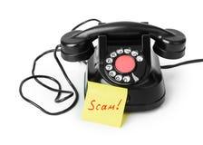 Εκλεκτής ποιότητας απάτη τηλεφώνων και εγγράφου στοκ φωτογραφίες με δικαίωμα ελεύθερης χρήσης