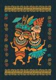 Εκλεκτής ποιότητας απεικόνιση Aloha Tiki, τροπικό κόμμα Tiki, χρόνος κομμάτων της Χαβάης, φραγμός Tiki, τυπωμένη ύλη μπλουζών Alo στοκ φωτογραφία