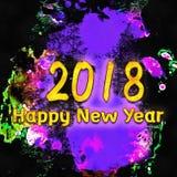 Εκλεκτής ποιότητας απεικόνιση 2018/Watercolor Στοκ εικόνες με δικαίωμα ελεύθερης χρήσης