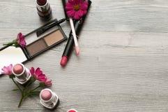 Εκλεκτής ποιότητας αποτελέστε θέτει Εικόνα ενός όμορφου διαφορετικού makeup στοκ φωτογραφίες με δικαίωμα ελεύθερης χρήσης
