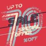 Εκλεκτής ποιότητας αφίσα πώλησης grunge Στοκ Εικόνες