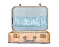 Εκλεκτής ποιότητας βαλίτσα ή αποσκευές ανοικτή, απομονωμένος Στοκ εικόνες με δικαίωμα ελεύθερης χρήσης