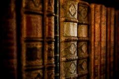 Εκλεκτής ποιότητας βιβλία Antiquarian στην παλαιά βιβλιοθήκη Στοκ φωτογραφία με δικαίωμα ελεύθερης χρήσης