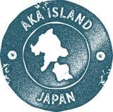 Εκλεκτής ποιότητας γραμματόσημο χαρτών νησιών Aka Ελεύθερη απεικόνιση δικαιώματος