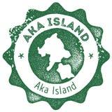 Εκλεκτής ποιότητας γραμματόσημο χαρτών νησιών Aka Απεικόνιση αποθεμάτων