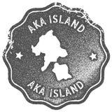 Εκλεκτής ποιότητας γραμματόσημο χαρτών νησιών Aka Διανυσματική απεικόνιση
