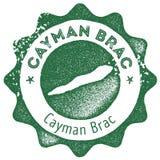 Εκλεκτής ποιότητας γραμματόσημο χαρτών Brac Cayman διανυσματική απεικόνιση