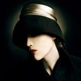 εκλεκτής ποιότητας γυναίκα πορτρέτου μόδας Στοκ εικόνα με δικαίωμα ελεύθερης χρήσης
