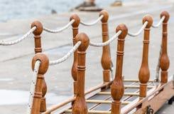 Εκλεκτής ποιότητας διακοσμητική σκάλα-διαδρομή, ιστορικό πλέοντας σκάφος Στοκ Εικόνες