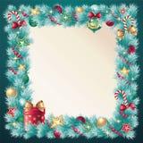 Εκλεκτής ποιότητας διακόσμηση κωνοφόρων Χριστουγέννων Στοκ Εικόνες