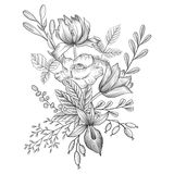 Εκλεκτής ποιότητας διανυσματική floral σύνθεση ελεύθερη απεικόνιση δικαιώματος
