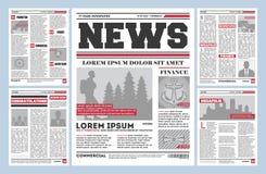 Εκλεκτής ποιότητας διανυσματικό πρότυπο περιοδικών εφημερίδων στοκ εικόνες