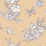 Εκλεκτής ποιότητας διανυσματικό Floral άνευ ραφής σχέδιο Στοκ εικόνες με δικαίωμα ελεύθερης χρήσης