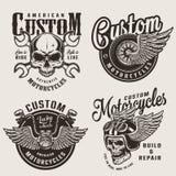 Εκλεκτής ποιότητας εμβλήματα μοτοσικλετών συνήθειας απεικόνιση αποθεμάτων
