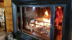 Εκλεκτής ποιότητας εσωτερική εστία με το κάψιμο των ξύλων φιλμ μικρού μήκους