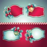 Εκλεκτής ποιότητας ετικέτες Χριστουγέννων που τίθενται Στοκ φωτογραφία με δικαίωμα ελεύθερης χρήσης