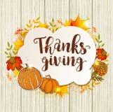Εκλεκτής ποιότητας ευχετήρια κάρτα για την ημέρα των ευχαριστιών διανυσματική απεικόνιση