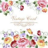 Εκλεκτής ποιότητας ευχετήρια κάρτα με τα ανθίζοντας λουλούδια Με τη θέση για σας Στοκ φωτογραφίες με δικαίωμα ελεύθερης χρήσης