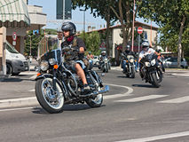 Εκλεκτής ποιότητας ιταλική μοτοσικλέτα Στοκ Εικόνα