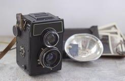 Εκλεκτής ποιότητας κάμερα στον πίνακα στοκ φωτογραφία με δικαίωμα ελεύθερης χρήσης