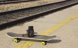 Εκλεκτής ποιότητας κάμερα skateboard στοκ εικόνες