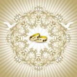Εκλεκτής ποιότητας κάρτα γαμήλιας πρόσκλησης Στοκ φωτογραφία με δικαίωμα ελεύθερης χρήσης