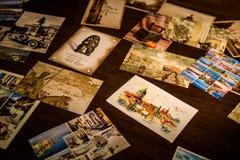 Εκλεκτής ποιότητας κάρτες στοκ εικόνες