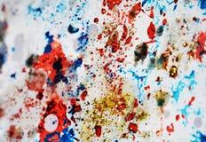 Εκλεκτής ποιότητας κέρινα σημεία φω'των κρητιδογραφιών λαμπιρίζοντας, χρώμα watercolor, ζωηρόχρωμα χρώματα Στοκ Εικόνες