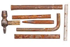 Εκλεκτής ποιότητας καθορισμένο εργαλείο που απομονώνεται επάνω Στοκ Εικόνες