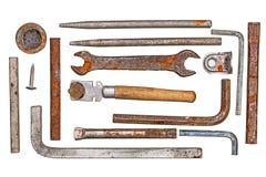 Εκλεκτής ποιότητας καθορισμένο εργαλείο που απομονώνεται επάνω Στοκ εικόνες με δικαίωμα ελεύθερης χρήσης