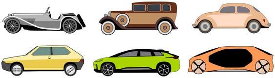 Εκλεκτής ποιότητας, καινοτόμο και κλασικό σχέδιο αυτοκινήτων στοκ φωτογραφίες