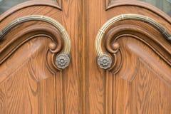 Εκλεκτής ποιότητας καφετιά ξύλινη πόρτα Στοκ Εικόνα