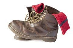 Εκλεκτής ποιότητας καφετιές μπότες Στοκ Εικόνες