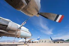 Εκλεκτής ποιότητας κινηματογράφηση σε πρώτο πλάνο αεροπλάνων στον αέρα PIMA και το διαστημικό μουσείο Στοκ Φωτογραφία