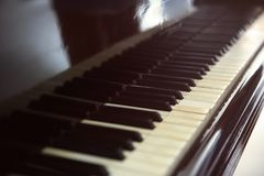 Εκλεκτής ποιότητας κλειδιά πιάνων Στοκ Εικόνα