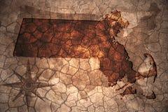 εκλεκτής ποιότητας κρατικός χάρτης της Μασαχουσέτης ελεύθερη απεικόνιση δικαιώματος
