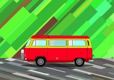Εκλεκτής ποιότητας κόκκινο Minivan Στοκ φωτογραφία με δικαίωμα ελεύθερης χρήσης