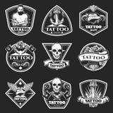 Εκλεκτής ποιότητας λογότυπα στούντιο Tatoo καθορισμένα ελεύθερη απεικόνιση δικαιώματος