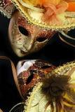 Εκλεκτής ποιότητας μάσκες καρναβαλιού Στοκ Εικόνες