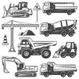 Εκλεκτής ποιότητας μηχανές κατασκευής καθορισμένες ελεύθερη απεικόνιση δικαιώματος