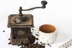 Εκλεκτής ποιότητας μηχανή καφέ Στοκ Εικόνα