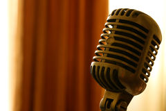 Εκλεκτής ποιότητας μικρόφωνο Στοκ εικόνα με δικαίωμα ελεύθερης χρήσης