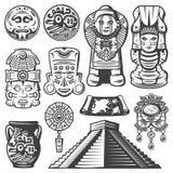 Εκλεκτής ποιότητας μονοχρωματικά στοιχεία της Maya καθορισμένα ελεύθερη απεικόνιση δικαιώματος