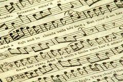 Εκλεκτής ποιότητας μουσική φύλλων. στοκ φωτογραφίες