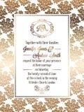 Εκλεκτής ποιότητας μπαρόκ πρότυπο καρτών γαμήλιας πρόσκλησης ύφους Στοκ Εικόνα
