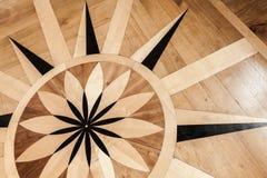 Εκλεκτής ποιότητας ξύλινο παρκέ με το αναδρομικό σχέδιο Στοκ εικόνα με δικαίωμα ελεύθερης χρήσης