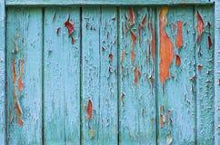 Εκλεκτής ποιότητας ξύλινο υπόβαθρο με το χρώμα αποφλοίωσης Στοκ Εικόνα