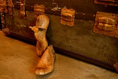 Εκλεκτής ποιότητας ξύλινο φορείο παπουτσιών ή δέντρο παπουτσιών στοκ εικόνα