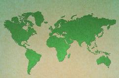 Εκλεκτής ποιότητας παγκόσμιος χάρτης πράσινος Στοκ φωτογραφίες με δικαίωμα ελεύθερης χρήσης