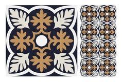 Εκλεκτής ποιότητας παλαιά άνευ ραφής κεραμίδια σχεδίων σχεδίου στη διανυσματική απεικόνιση Στοκ φωτογραφία με δικαίωμα ελεύθερης χρήσης
